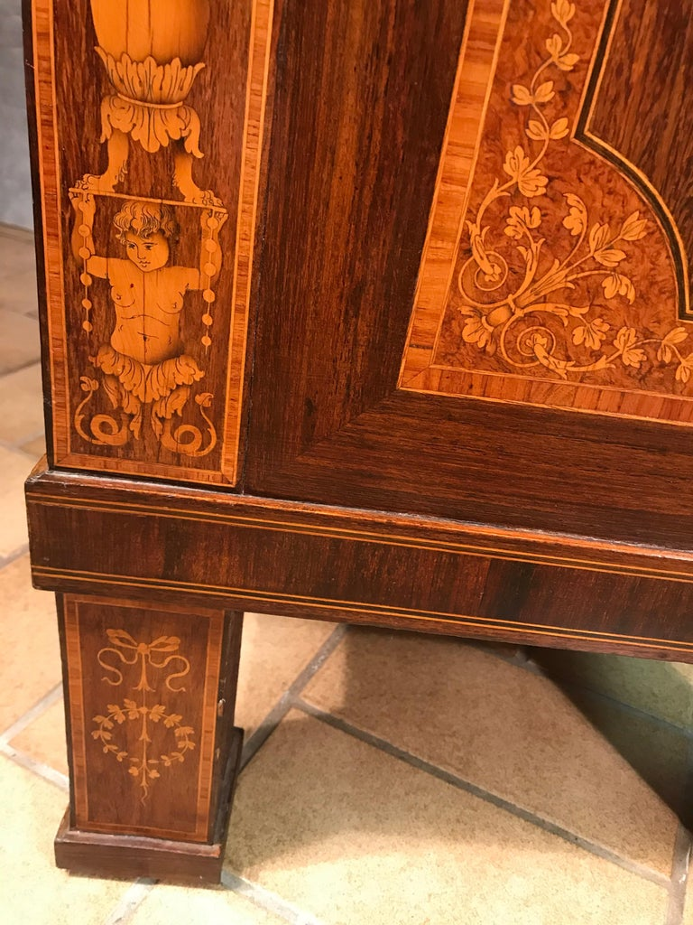 Fall Top Desk, Italy 1870-1890, Manner of Giuseppe Maggiolini For Sale 8
