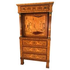 Fall Top Desk, Italy 1870-1890, Manner of Giuseppe Maggiolini