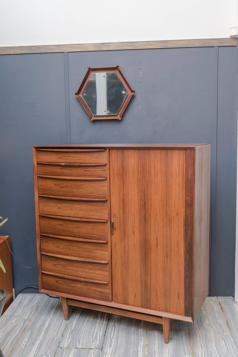Falster Rosewood Tall Dresser For Sale 5