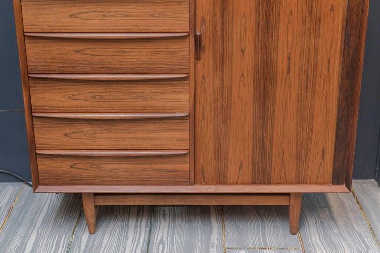 Scandinavian Modern Falster Rosewood Tall Dresser For Sale