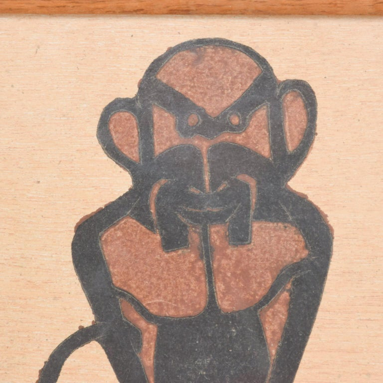 For your pleasure: Fabulous Francisco Toledo Art Work - Abstract Monkey Drawing, Signed. From Oaxaca, Mexico Listed Artist. Original piece- paper has fiber consistency.   Dimensions: 9.5