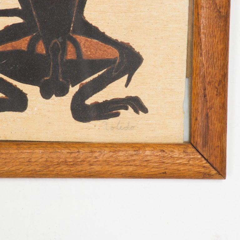 Mexican Famed Francisco Toledo Chango Monkey Art Drawing Oaxaca, Mexico