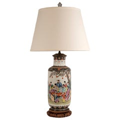 Famille Rose Chinese Porcelain Lamp
