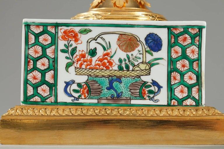 French Famille Verte Porcelain Inkwell by Samson For Sale