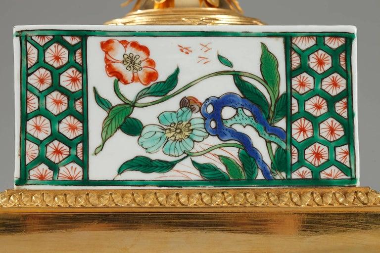 Gilt Famille Verte Porcelain Inkwell by Samson For Sale