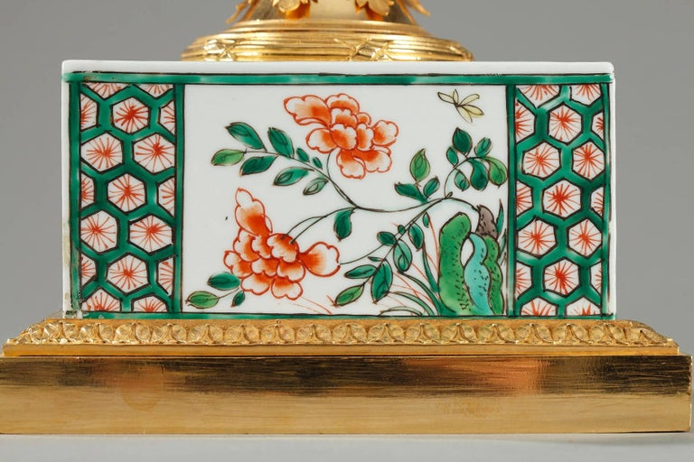Famille Verte Porcelain Inkwell by Samson In Good Condition For Sale In Paris, FR