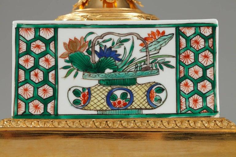20th Century Famille Verte Porcelain Inkwell by Samson For Sale