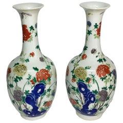 Famille Verte Vases, Kangxi Period, 1662-1722