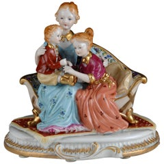 Family Time, Porcelain, after Models from Sèvres, 20th Century