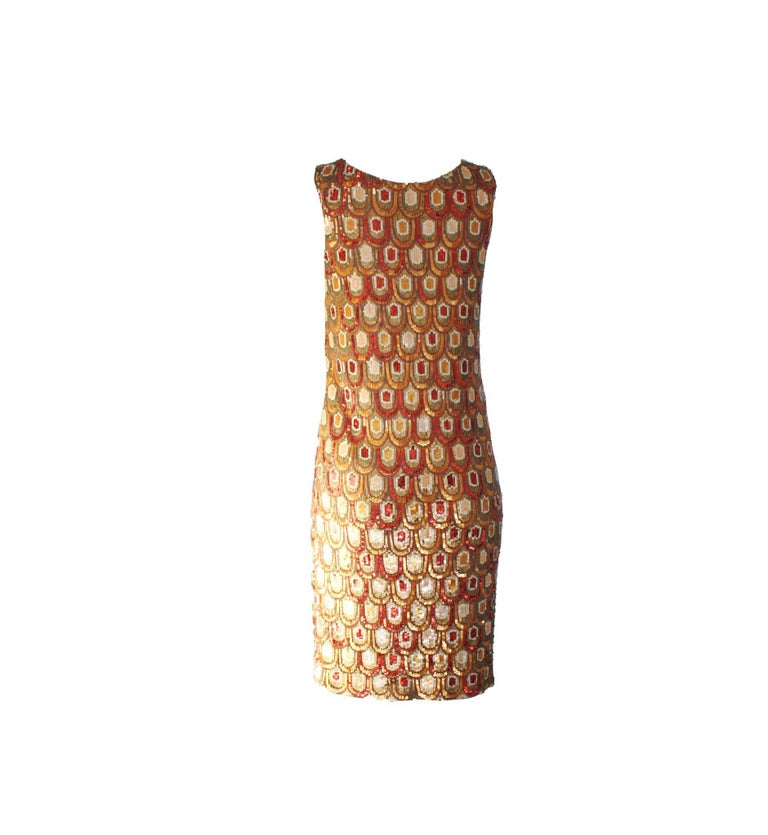 A stunning sequin dress by Emilio Pucci Beautiful printed silk in the famous Emilio Pucci Signature