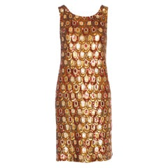 Famous Marylin Monroe Emilio Pucci Peacock Print Sequin Cocktail Dress