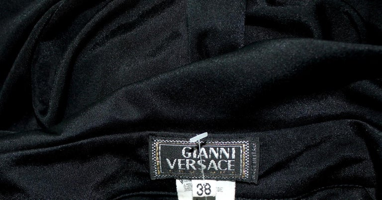 Famous Gianni Versace Couture SS 2000 Black Dress from Jungle Collection For Sale 1