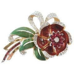 Famous Vintage Coro Trembler Floral Brooch