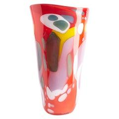 Fan Epiphany Vase in Vermillion Red by BaleFire Glass