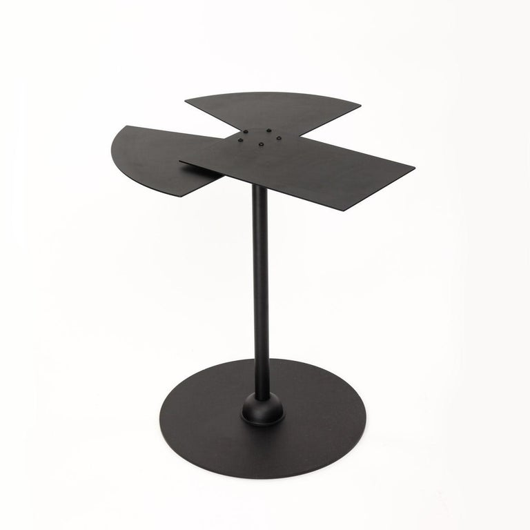 American Fan Side Table in the Manner of Pierre Chareau For Sale