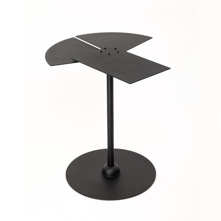 Lacquered Fan Side Table in the Manner of Pierre Chareau For Sale