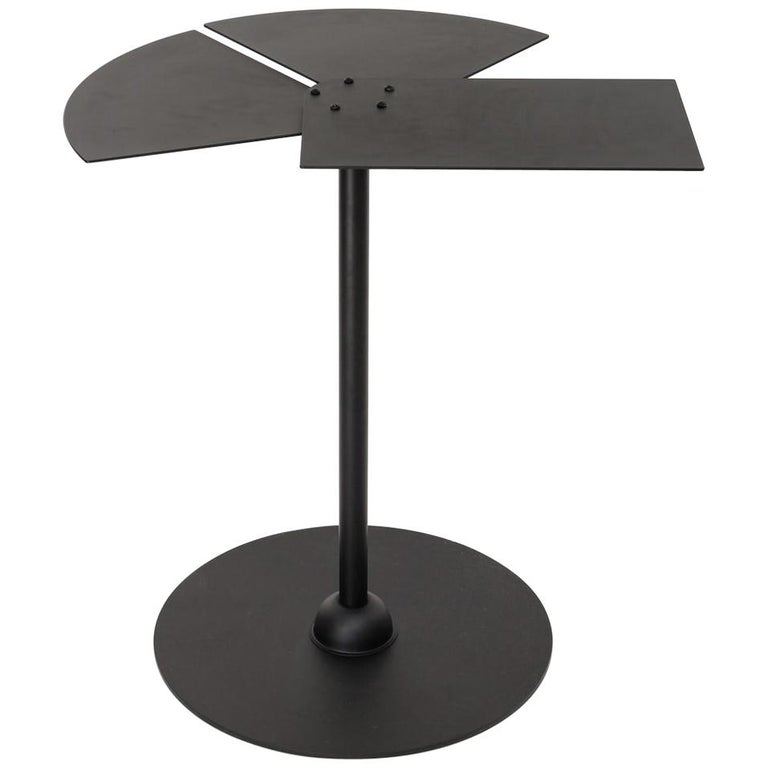 Fan Side Table in the Manner of Pierre Chareau For Sale