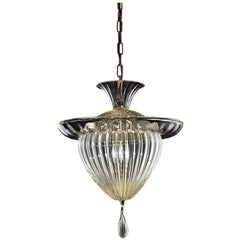 Fanali Veneziani 5382 Suspension Lamp in Glass, by Barovier&Toso