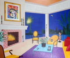 Interior With Liberty-Limited Edition Serigraph, Signed by Artist