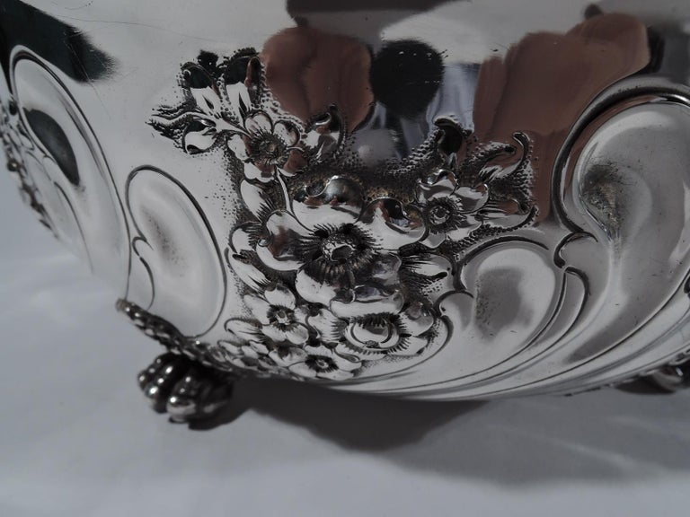 19th Century Fancy Antique American Sterling Silver Bowl by Tiffany For Sale