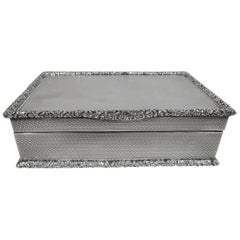 Fancy Antique English Sterling Silver Box