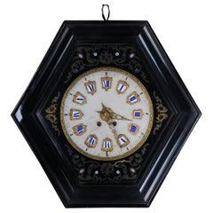 Fancy Antique Wall Clock, circa 1850