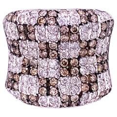 Fancy Brown 1.21 Carat Diamond Cocktail Ring