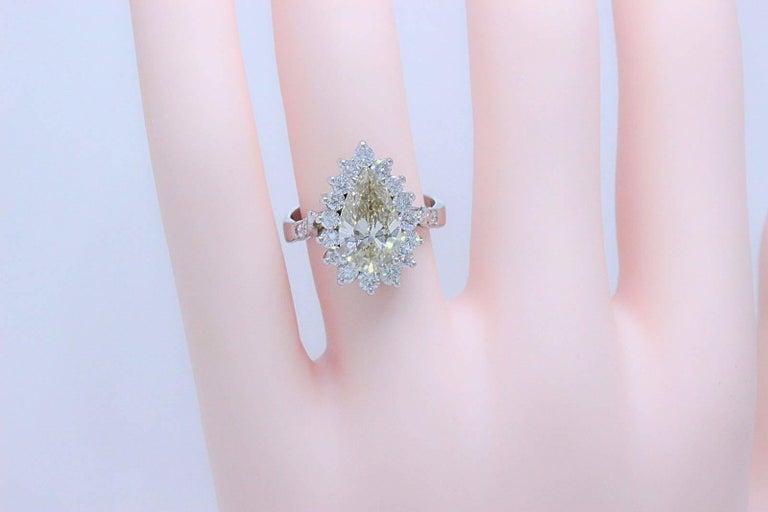 Fancy Brown Pear Shape 3 80 Carat Diamond Engagement Ring