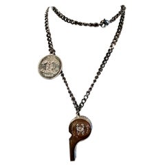 Fancy Chanel Whistle Pendant With CC Medallion Necklace Chain Spring/Summer 2015