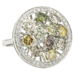 Fancy Color Diamond Ring 3.86 Carat 18 Karat