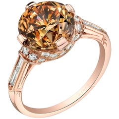 Neil Lane Couture Fancy Colored Diamond, 18K Rose Gold Ring