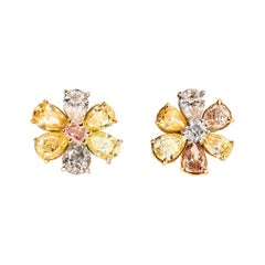 Fancy Colored Diamond Earrings
