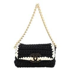 Fancy Crochet Flap Bag Fabric Small