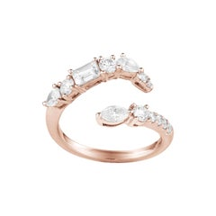 Fancy Cut Diamonds Ring Numerology Number 6