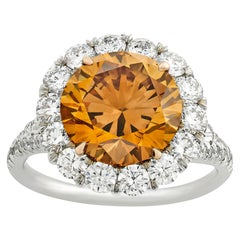 Fancy Deep Brown-Orange Diamond Ring, 4.04 Carat