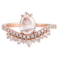 Fancy Diamond 18 Karat Gold Engagement Ring