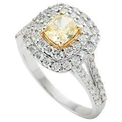 Fancy Diamond 18 Karat Gold Ring