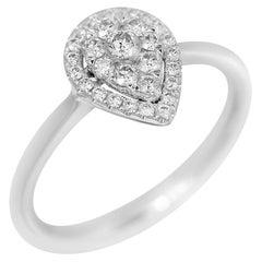 Fancy Diamond White Gold Ring