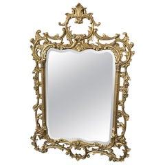 Fancy Giltwood & Gesso Rococo Mirror