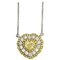 Fancy Intense Yellow Diamond Pendant Necklace