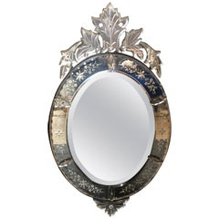 Fancy Large Venetian Antique Mirror from France