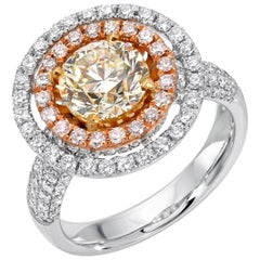 Yellow Diamond Ring GIA Certified 1.63 Carats