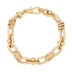 Fancy Linked Gold Bracelet