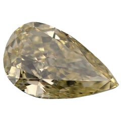 Fancy Pear Diamond GIA Certified 1.55 Carat