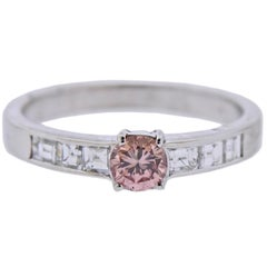 Fancy Pinkish Brown Diamond Gold Engagement Ring