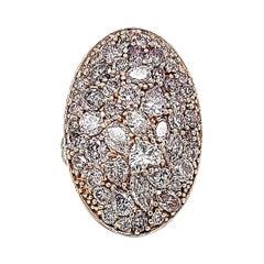 Fancy Prink Diamonds Cocktail Ring