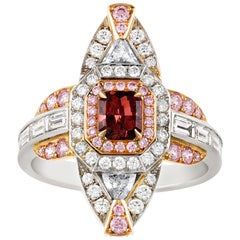 Fancy Red Diamond Ring