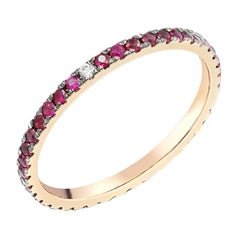 Fancy Ruby Diamond Yellow Gold Ring