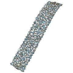 Fancy Shape Aquamarine Bracelet