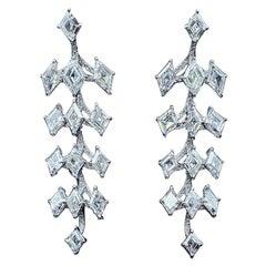 Fancy Shape GIA Certified Diamond Earring Mount in Platinum and 18 Karat Gold